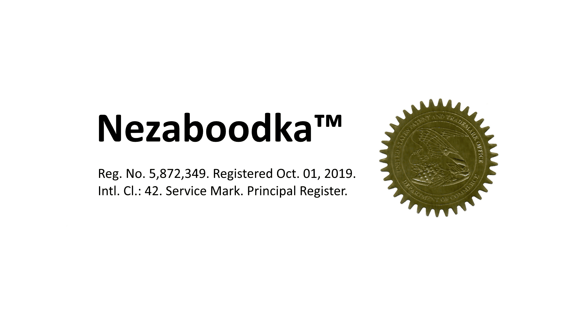 Nezaboodka™ is now an official trademark cover image